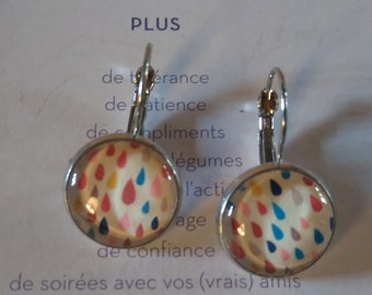"Earrings ""drops of water"""