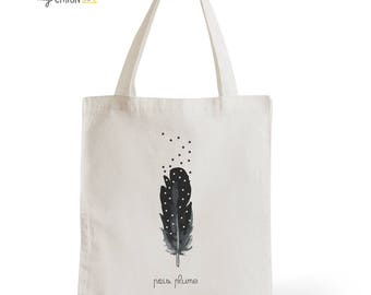 Tote Bag peas pen, gift for her, gift for him, typography, statement, quote
