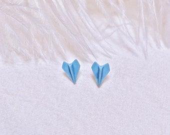 Ceramic Paper Plane Ear Studs