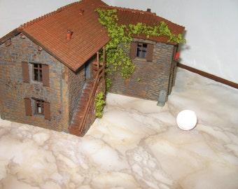 typical farmhouse in bricks