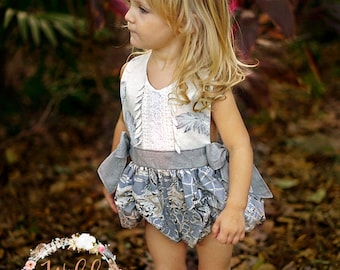 Girls Romper, Girls Sunsuit, Toddler Romper, Boho Romper, Summer Romper, Baby Romper, Pinafore Romper, Vintage Style Romper, Bubble Romper