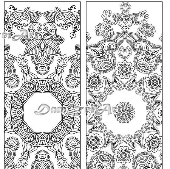 Flower Mandalas Coloring Bookmarks Bookmark coloring