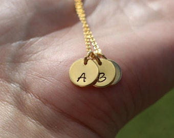 Dainty custom initial necklace, Mother gift necklace, initials necklace, gold plated necklace, customized necklace, personalized gift
