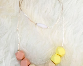 CLEARANCE Yellow, Peachy and Navajo Silicone Teething / Nursing Necklace
