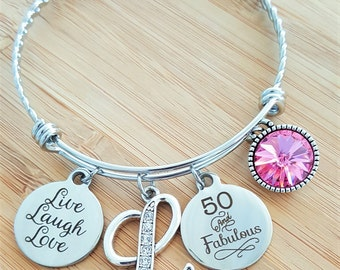 50 Birthday Gift 50th Birthday Gift Birthday Gift Birthday Gifts for Her Birthday Gift for Friend Birthday Gifts for Bestfriend 50 Fabulous
