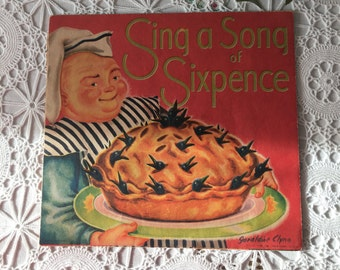 "1950 ""Sing a Song of Sixpence""  Gelaldine Clyde Pop Up Card"
