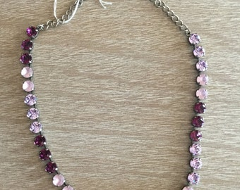8MM Swarovski Shades of Purple Necklace