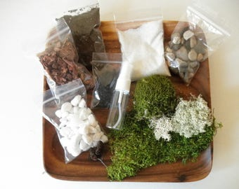 DIY - Classic Clean Terrarium Kit - Use your own Container
