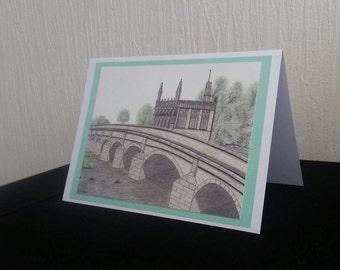Chantry Bridge, Wakefield - Greetings Card A5