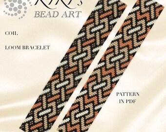 Loom pattern, Coil LOOM bracelet pattern in PDF - instant download