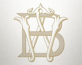 Custom Letters Monogram - BW WB - Custom Letters - Digital