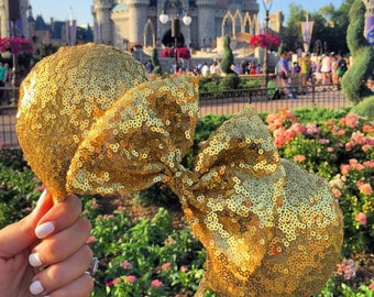 Golden Minnie Mouse Ears