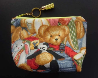 Teddy bear make up bag