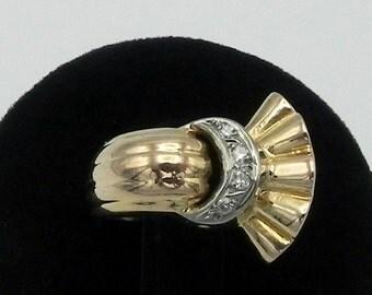 Ancient Chevalier Gold Platinum Diamond Ring antique ring Chevalier Gold Platinum Diamond