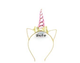 Unicorn Headband-Unicorn headband-headband-Baby Headband-Toddler Headband- Hair Bows- headbands-Diy Kit-Unicorn Headband Kit