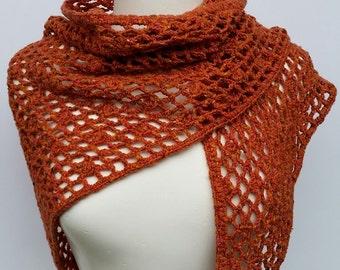Crochet wool shawl, lacy crochet shawl, crochet scarf, winter scarf, wool wrap, women's accessory