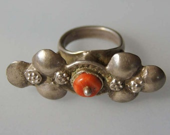 Afghan Coral Silver Ring