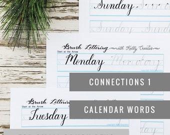 Anschlüsse 1: Kalender Wörter