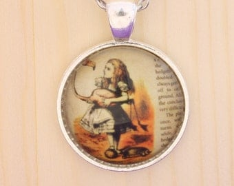 Alice in Wonderland necklace / Alice in Wonderland jewelry / literary quote jewelry