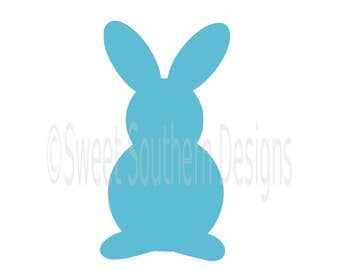 Easter bunny rabbit SVG instant download design for cricut or silhouette