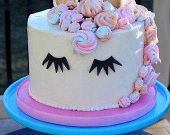 Unicorn Cake Topper, Birthday Cake, Unicorn Cake, DIY Birthday Cake