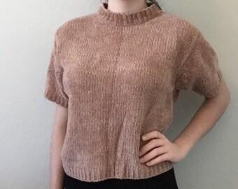 90s Mauve Boxy Sweater Shirt