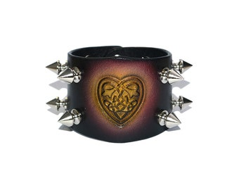 Black Leather Wide Bracelet / Leather Bracelet, Leather Wristband / Leather Wrap Bracelet, Mens Bracelet, Leather Cuff Bracelet