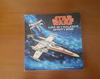 Rare & Vintage Star Wars Luke Skywalker Activity Book