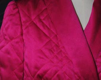 Bathrobe in pink satin 1950/60