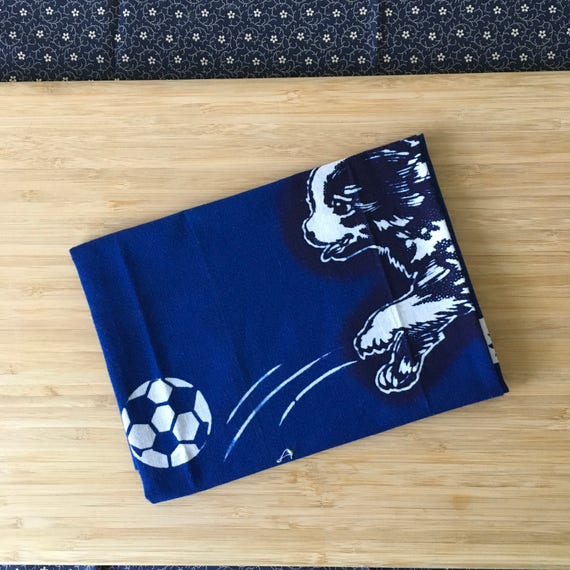 Kendo Tenugui, Japanese Cotton Tenugui - Soccer Dogs Print from Kendo Girl