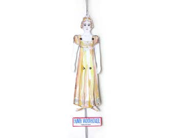Emma Woodhouse - DIY Instant Digital Download - Emma - Jane Austen - Jumping Jack - Pantin - Paper Doll - Toy - - Gift - Party Decor