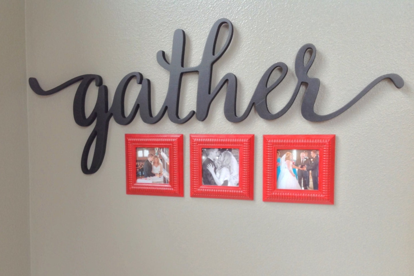 Gather Script Word Sign Wall Decor Home Gallery