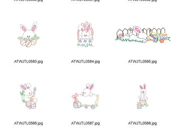 Cute-Little-Bunnies ( 10 Machine Embroidery Designs from ATW )