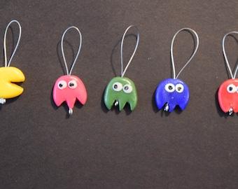 Knitting stitch markers: Pac-man edition!!