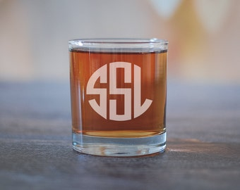 Monogram Groomsman Scotch Glass, Initials Whiskey Glass, Groomsmen Gift, Groomsman Rocks Glass, Wedding Party Favors, Classic Groomsman