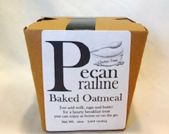 Pecan Prailine Baked Oatmeal (Made with Gluten Free Oats)