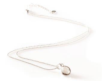 Silver Topaz Gemstone Necklace