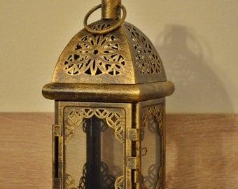 Vintage Moroccan Lantern / Bronze lantern / Rustic lantern / Lanterns / wedding lantern / weddings lanterns / lantern centerpiece