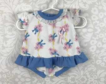 Infant Girl's 3/6 month Floral Top and Bloomer/Short Set - Free Shipping!