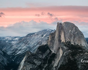 Fine Art Print - Yosemite National Park - Half Dome Sunset