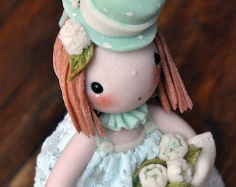 Soledad, cold porcelain doll, art doll, cold porcelain doll
