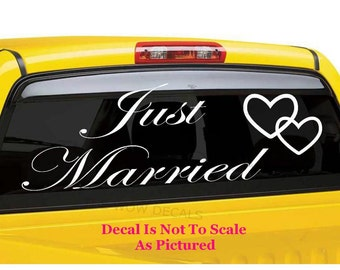 Wedding Vinyl Decals Etsy - Vinyl stickers for cars near me