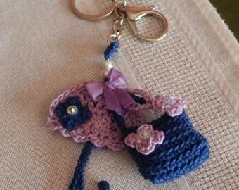 handmade keychain or chiudicerniera, made in italy