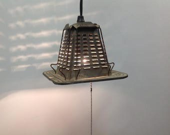 One of a kind antique toaster pendant light - casts really cool shadows - upcycled kitchen lighting