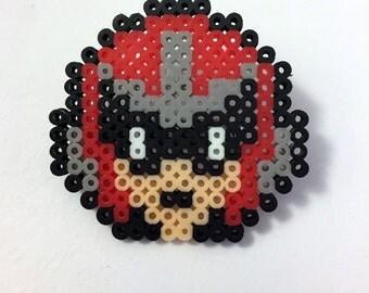 Protoman - Mega Man - Mini Perler Beads