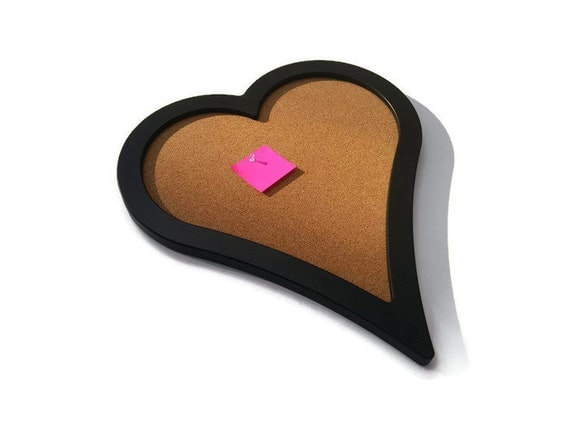 Heart shaped cork board custom cork board black cork board for Heart shaped bulletin board