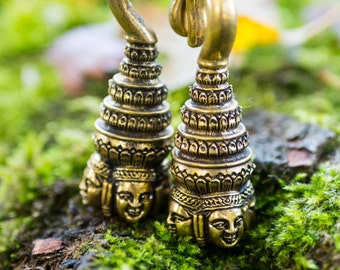 Tribal Buddha expansion Heavy ear Lobe ear weight / weight brass Kaya / heavy spacers