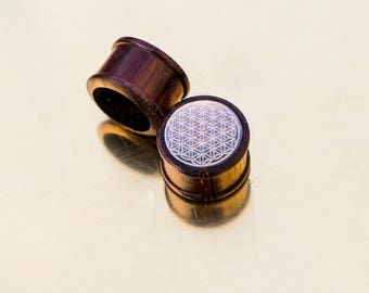 Flower of life plug Nacre