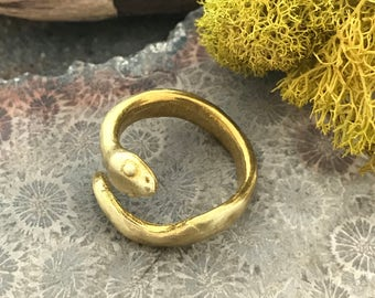Green Girl Studios Snake Ring (Adjustable)