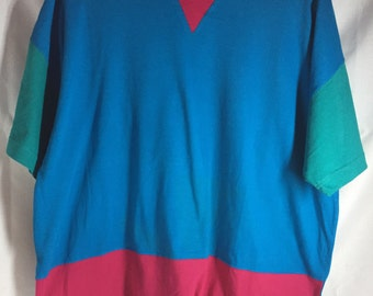Vintage Colorblock T Shirt (Free Shipping)